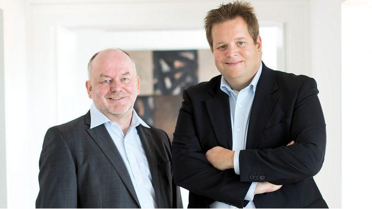Die beiden Geschäftsführer der Sector27 GmbH, Harald Kiy (links) und Christoph Hundenborn, wollen den Ausbau des gemeinsamen Produkt- und Serviceportfolios weiter vorantreiben.