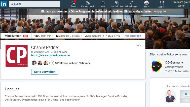 ChannelPartner bei LinkedIn 16:9