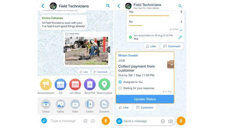 Bisher hatte Microsoft Kaizala als Werkzeug zur Kommunikation zum Beispiel zwischen Service-Technikern in Schwellen- und Entwicklungsländern positioniert. Nun soll die Chat-App weltweit Teil von Office-365-Abonnements für Firmenkunden werden.