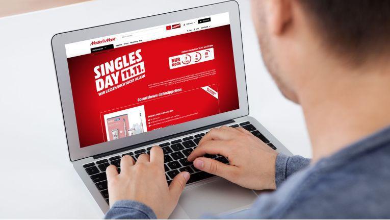 Von 10. bis 12. November feiert Media Markt den Singles Day