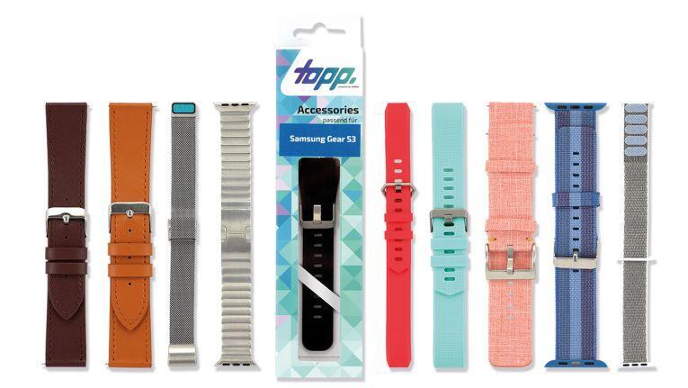 """Rechtzeitig zum Weihnachtsgeschäft bringt Komsa unter der Eigenmarke """"Topp"""" Armbänder für Smartwatches in den Handel."""