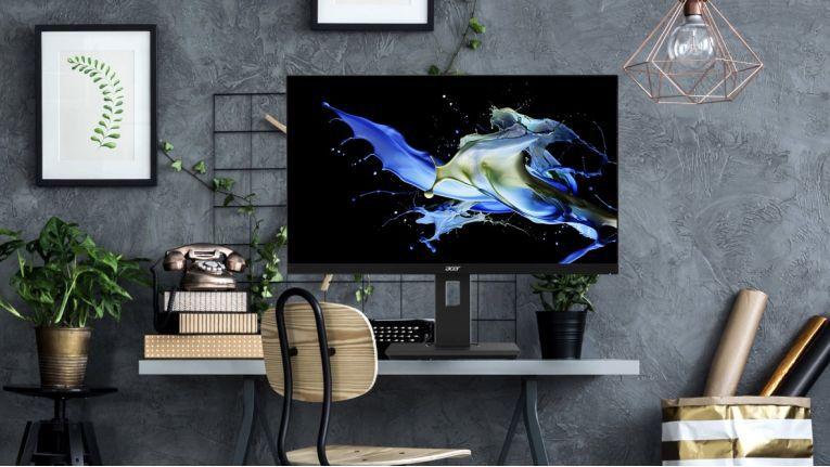 Die Monitore der Acer B7-Reihe stehen stabil und nehmen auch auf kleinen Flächen nur wenig Platz ein. Das IPS-Display steht dank seiner großen Farbraumabdeckung für lebensechte Bilder.