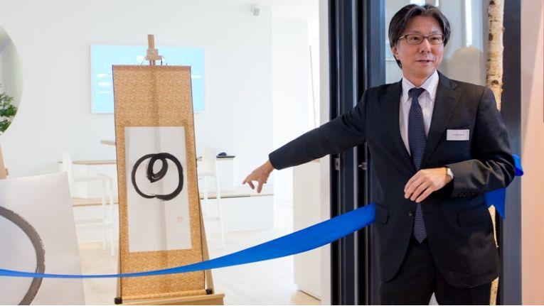 """Enso – The Space for Creators heißt das Digital Lab von NTT Data in München. Der japanische Begriff steht für """"Kreis"""" und ist zudem ein Symbol aus der japanischen Kalligraphie. Hier sollen zusammen mit Kunden und Partnern innovative Lösungen entwickelt werden."""