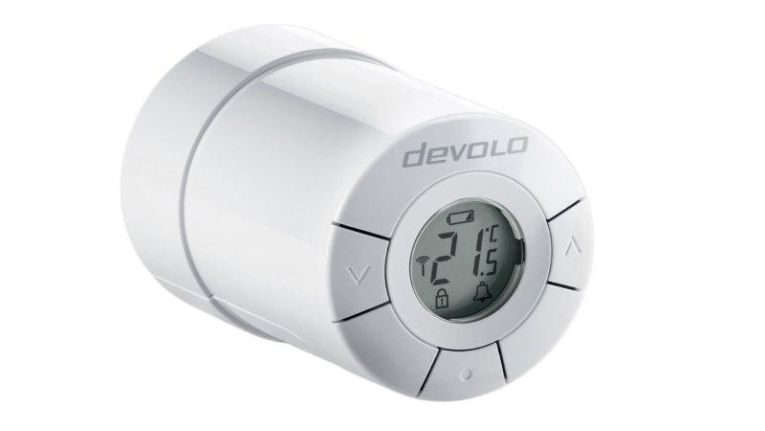 Der Heizkörperthermostat von Devolo kommuniziert über Z-Wave mit der Zentraleinheit.