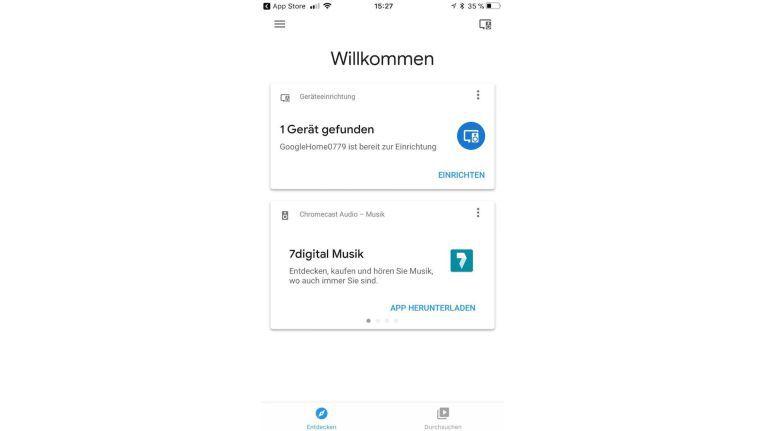 Über einen Assistenten in der Google Home-App auf iPhones und Android-Smartphones können Google Home-Geräte eingerichtet werden.