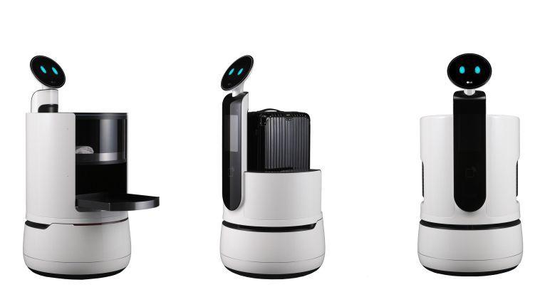 Mit dem Serving Robot, dem Porter Robot und dem Shopping Cart Robot stellt LG drei neue Konzeptroboter aus der CLOi-Reihe vor.