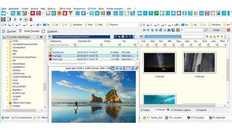 Dateimanager mit integriertem PDF-Tool