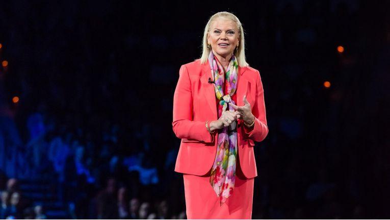 Ginni Rometty IBM, CEO und Chairman von IBM, erklärte auf der Think-Konferenz 2018 in Las Vegas, der Konzern sei wieder einmal dabei sich neu zu erfinden.
