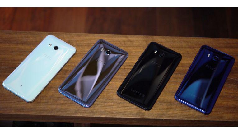 Zunächst kommt das HTC U11 in den Farben Weiß, Silber, Schwarz und Blau auf den Markt. Rot folgt später.