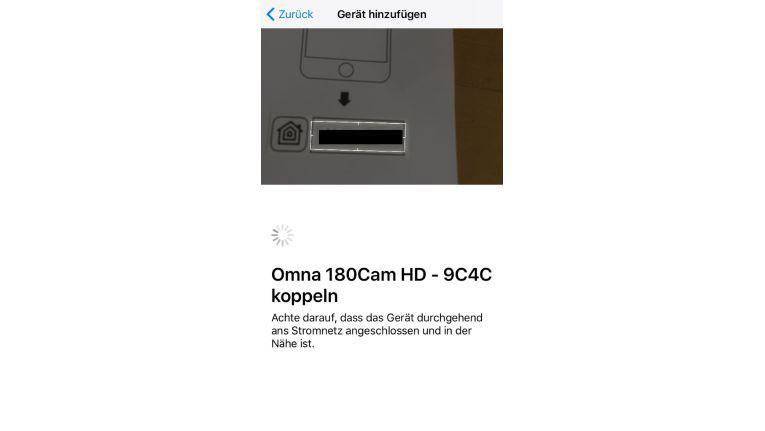 Installation: Produkt Key scannen.