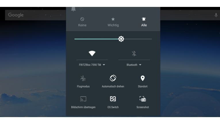 Mit OS-Switch wechseln Sie auf dem Ultratab von Android zu Windows.