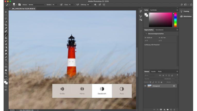 Besonders Photoshop-Anwender profitieren von dem Drehrad der Logitech Craft