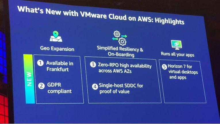 VMware Cloud on AWS ist nur auch vom AWS-Standort in Frankfurt verfügbar.