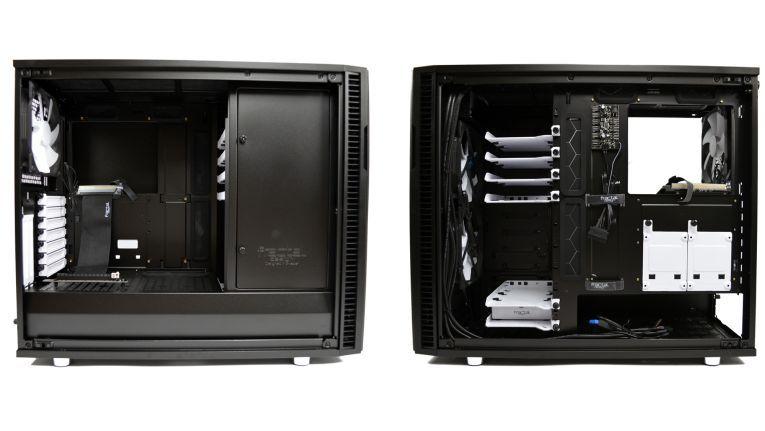 Das Fractal Design Define R6, beidseitig geöffnet.