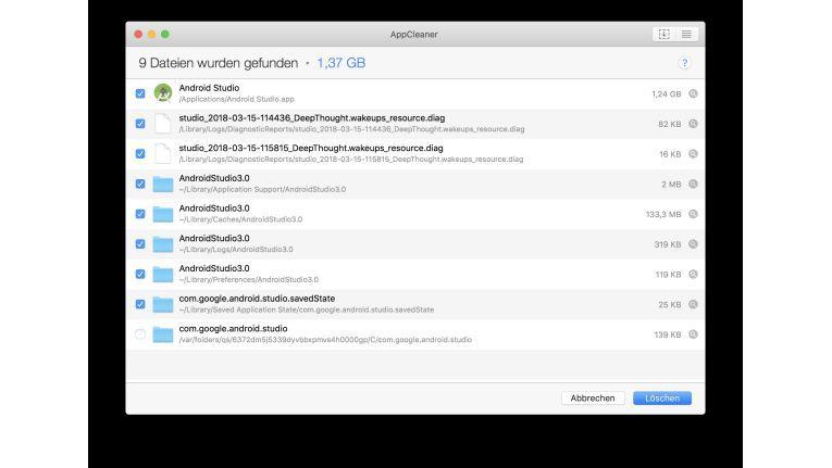 AppCleaner entfernt App-Reste im System