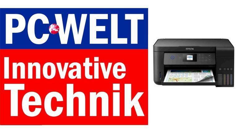 """Das durchdachte Tintennachfüllsystem bringt dem Epson Ecotank ET-2750 die Auszeichnung """"Innovative Technik"""" ein."""