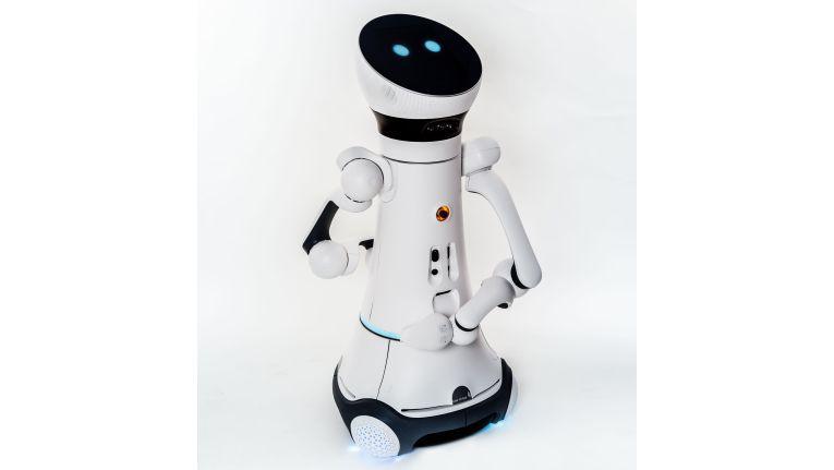 Care-O-bot 4 kann mit Armen, aber auch ohne eingesetzt werden und lässt sich so an unterschiedliche Aufgaben anpassen