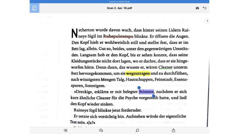 In Acrobat Reader kann man das Dokument bearbeiten.