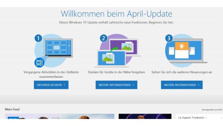 Windows 10 April 2018 Update hat nicht nur Neuerungen an Bord