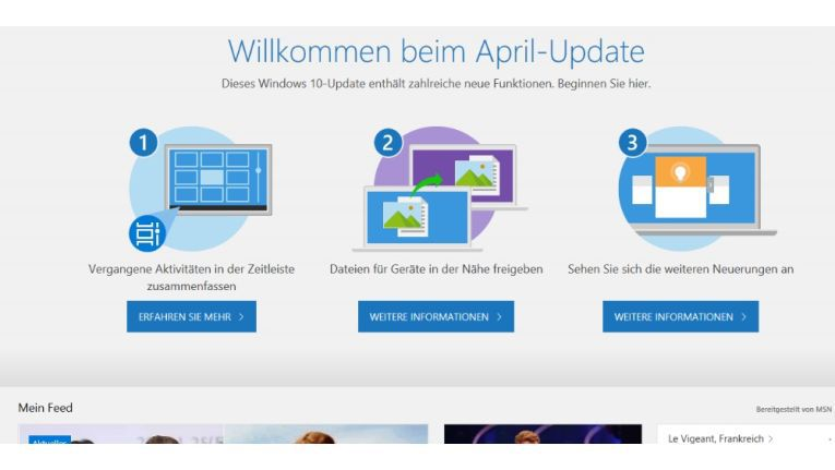 Windows 10 April 2018 Update hat ein Einfrier-Problem
