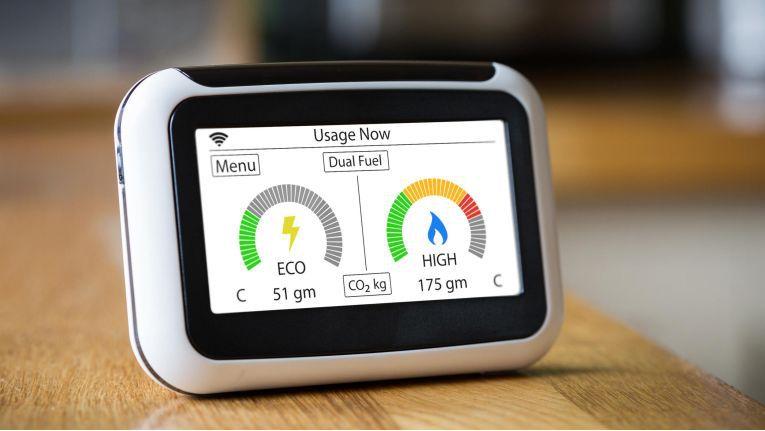 Intelligente Smart Meter messen Strom- und Gas-Verbrauch.