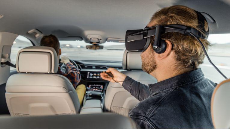 Audi verwandelt auf der CES das Auto in eine Erlebnisplattform für Virtual Reality.