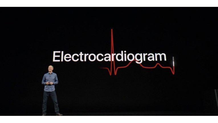 EKG mit der Apple Watch 4 messen.