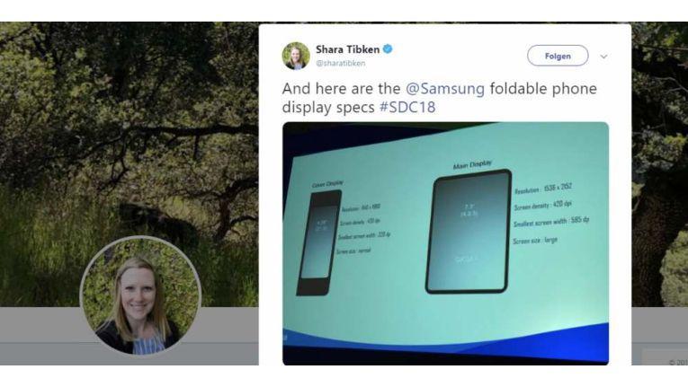 Sara Tibken twitterte die technischen Details.