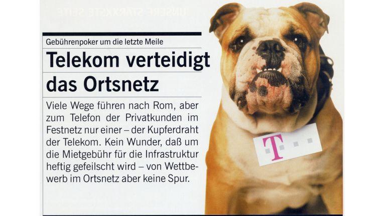 Verbissen verteidigte die Telekom in den ersten Jahren des Wettbewerbs ihre Vormachtstellung auf der letzten Meile zum Kunden. (Bild aus Computerwoche Spezial 1998)