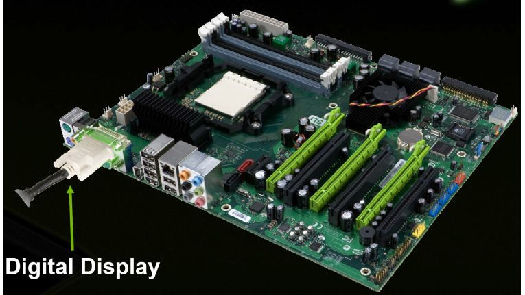 Wenn im Hybrid-Power-Modus von Nvidia die diskrete Grafikkarte abgeschaltet wird, muss der Monitor am Mainboard angeschlossen werden.