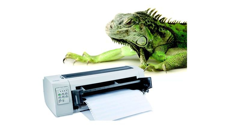 Nadeldrucker: Die Dinosaurier unter den Printern.