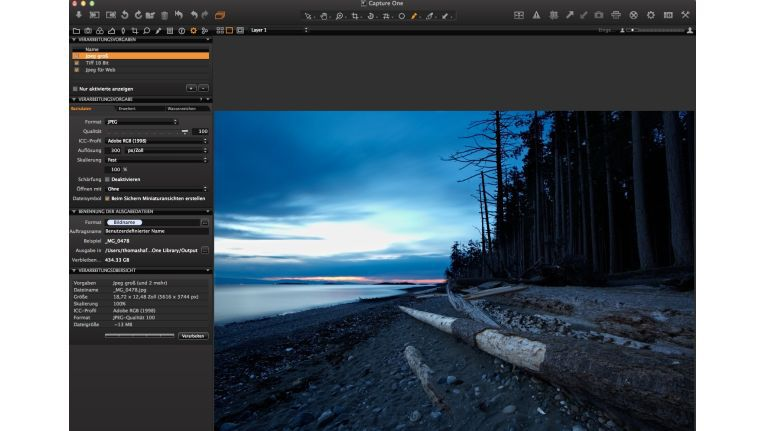 Capture One 6 - Export