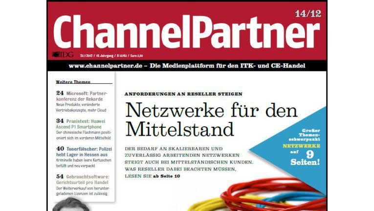 Titelseite der ChannelPartner-Ausgabe 14/12