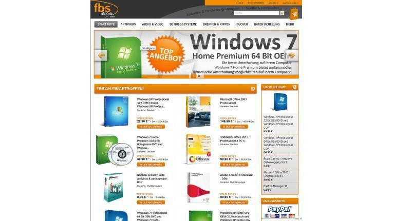 Die Homepage der FBS Allgäu GmbH