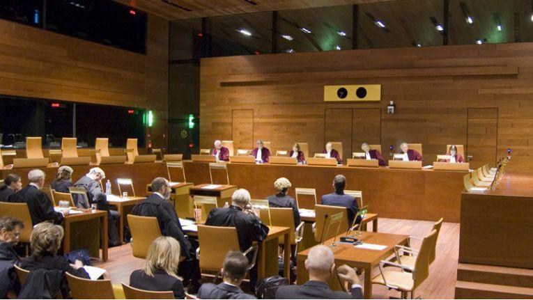 Sitzungssaal des Europäischen Gerichtshofs (EuGH)
