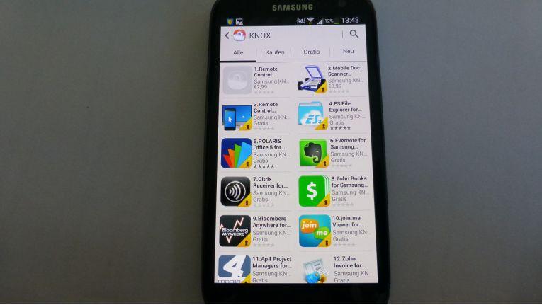 Knox Appstore: Aktuell stehen 44 Apps zum Download bereit, darunter einige gute Bekannte.