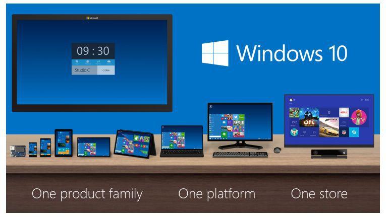 Microsoft verspricht mit Windows 10 einheitliche Bedienung auf unterschiedlichsten Geräten.