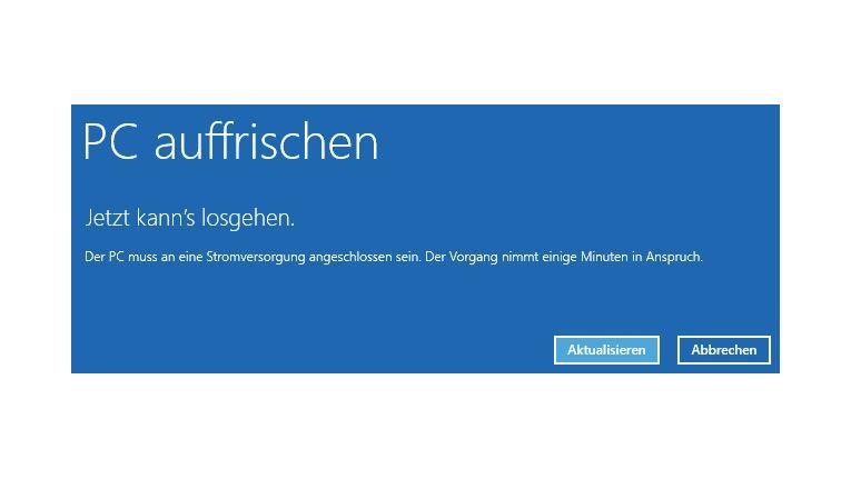 Alles auf Anfang: Windows 8.1 können Sie mit Bordmitteln wiederherstellen, wenn Systemdateien nicht korrekt funktionieren. Den Assistenten starten Sie über die Windows-8.1-Installations-DVD.