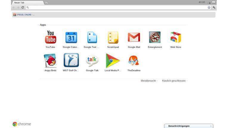 Software auf dem Chromebook: Für das Browser-OS gibt es Web Apps.