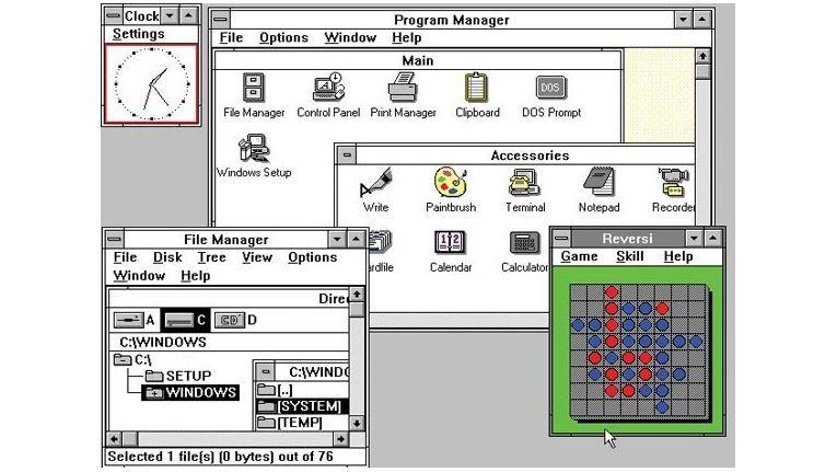 Benutzeroberfläche von Windows 3.0