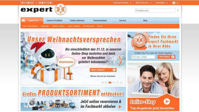 Online-Warenkatalog und Onlineshop von Expert werden zum Jahresende miteinander vereint