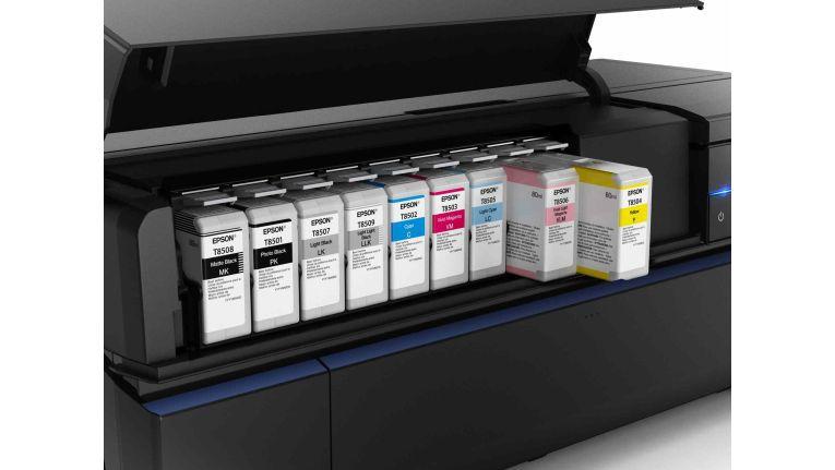 Epson SureColor SC P800: Neun Tintentanks.