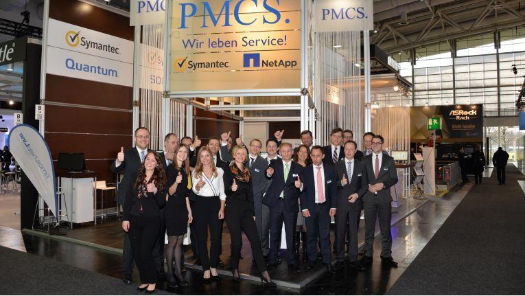 Das Team der PMCS.helpLine Software Gruppe zeigt auf jeder Messe volles Engagement und hat stets viel Spaß bei der Arbeit.