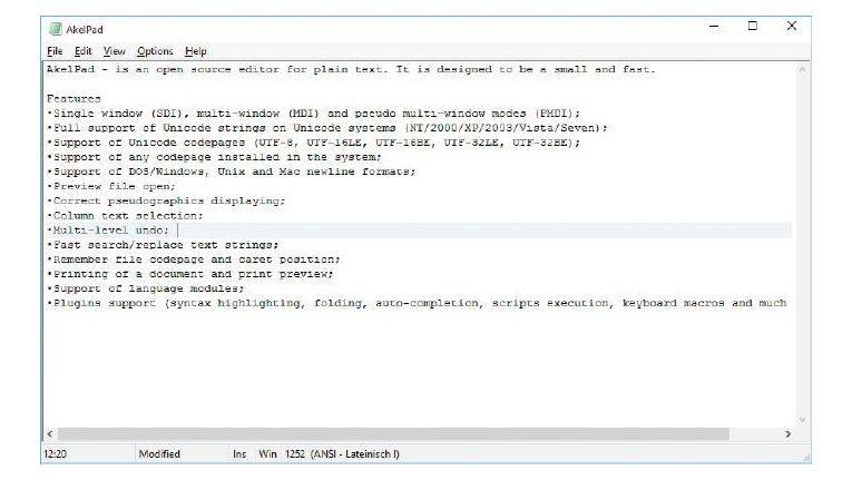 Die Notepad-Alternative Akelpad bearbeitet Textdateien aller Art ohneGrößenbeschränkung.