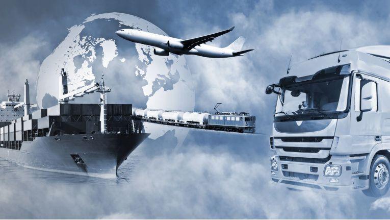 Vernetzung in der modernen Logistik.