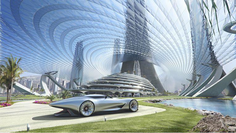 Mercedes-Benz Future World: So stellt sich Daimler die Mobilität der Zukunft vor.