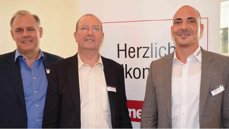 Rigby und Wick Hill wollen zusammen noch mehr Wachstum generieren: Paul Eccleston, Ian Kilpatrick und Helge Scherff (von links).