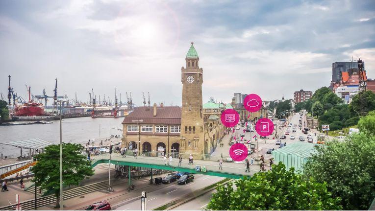 Hamburg und die Telekom wollen in den nächsten Jahren bis zu 11.000 Stellplätze digitalisieren.