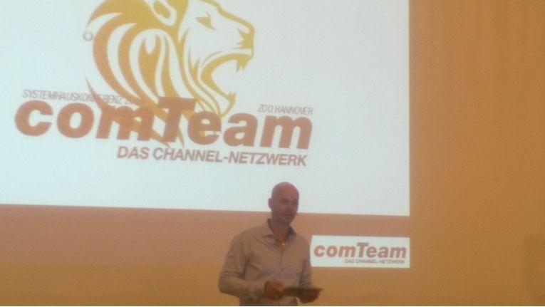 comTeam-Chef Sven Glatter bei der Systemhauskonferenz 2015 in Hannover