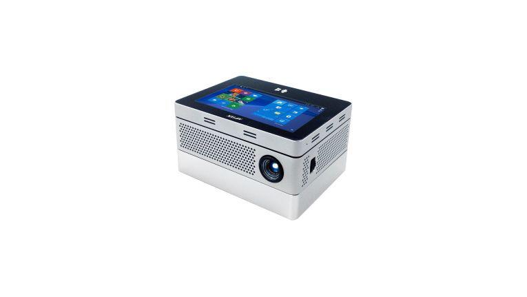 Beim ''iBeamBlock''-System von Aiptek lässt sich der Projektor in der Wunschkonfiguration individuell zusammenbauen.